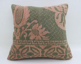 Kilim Pillows Green Pillows Elegance Pillows Decorative 20x20 Turkish Pillows Big Throw Pillows Large Cushion Cover Kilim Pillow SP5050-2620