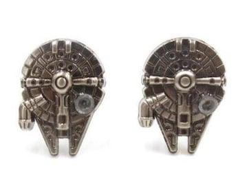 Millennium Falcon Star Wars Cufflink -B193 Free Gift Box