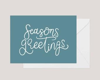 Printable Christmas Card | Greeting Card | Holiday Card | | Xmas Card | A2 Card | Seasons Greetings Card | Simple Christmas Card