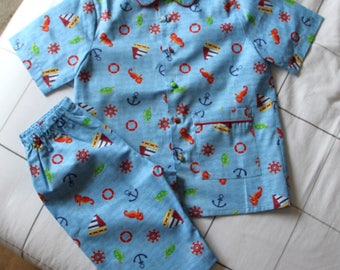 Pajamas for summer cotton T 8 and 10 years
