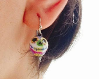 Sugar Skull day of the dead earrings
