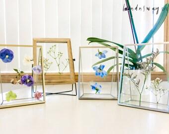 Floating Dry Flower Frame/ Pressed Flowers/ Home Decor/ Dried Flower Frame/ Pansies/ Hydrangea/ Babybreath/ Limonium/ Home Art