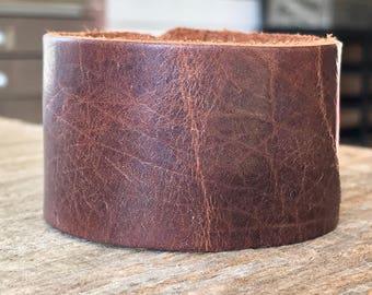 Bison Leather Cuff