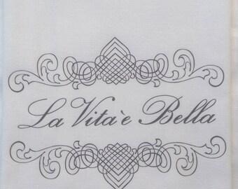 LA VITA E BELLA Tea Towel