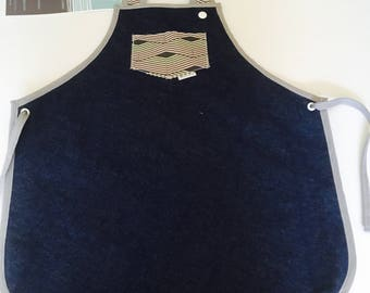READY to ship / apron 6-10 years / kitchen apron for kids / apron / daughter apron / navy blue jeans / denim Navy Blue