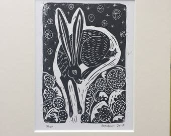 Hare in dandelions