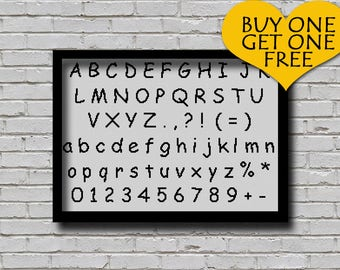 Cross Stitch Pattern Comic Sans Font Embroidery Decor ABC Pattern Letters E Pattern Alphabet Text Cross Stitch Font