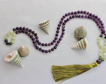 Amethyst Mala Necklace