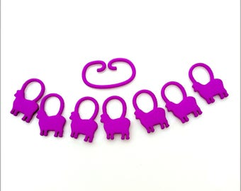Baa-a-a Sheep -- Purple 3D Printed Stitch Markers -| 3D Printed Stitch Markers