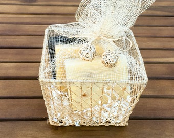 Free Shipping Handmade Soap sensitive skin gift basket Christmas holiday gifts for women gifts for anniversary valentines day gift