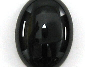 18x24mm black onyx oval cabochon cab 36871