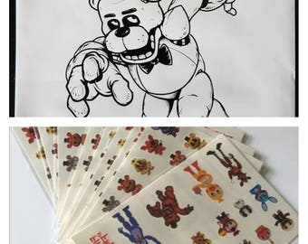 FNAF Five Nights at Freddy's Birthday Goody Bags and Tattoos - Lot of 30 - FREE Shipping!