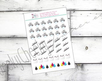 Print and Cut Icon Stickers -- Perfect for any Planner!