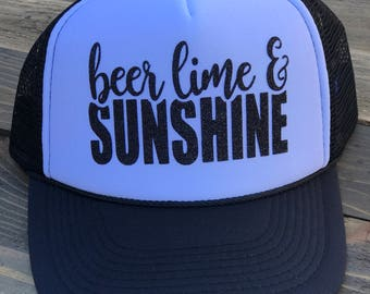 Beer Lime and Sunshine Trucker Hat