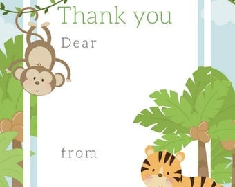 Jungle Thank You Notes