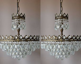 MATCHING Crystal Chandelier Vintage Crystal Chandelier Lighting Antique French Crystal Chandelier - Home and Living Fittings & Fixture