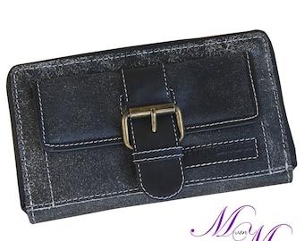 Women's purse made of grey-white leather-Mandy by MALTZAHN
