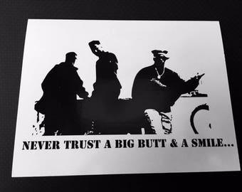 Bell Biv DeVoe Poison-Never Trust a big butt & a smile card