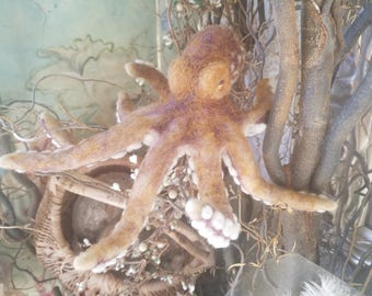 Needle Felted Octopus
