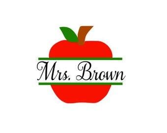 Apple Monogram. FONT NOT INCLUDED. Teacher. Apple. Back to school. Teaching. Students. Apples. Teacher Gifts. svg. school.