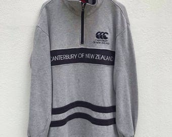 Vintage Canterburry Pullover Canterburry Sweatshirt of New Zealand Sweatshirt Rugby team Canterburry Pullover sz M