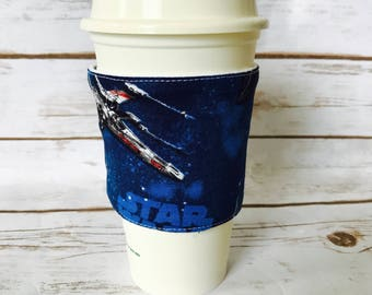 Coffee Cup Cozy, Star Wars Reusable Coffee Sleeve, Tea Cup Cozy, Personalized Gift, Custom Cup Sleeve, Eco Friendly Item