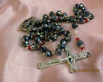 Black and Silver Rosary
