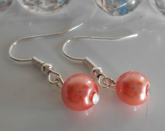 Wedding earrings coral beads