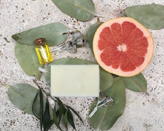 Grapefruit oil soap - Handmade Natural olive oil Soap