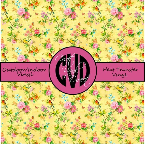 Beautiful Patterned Vinyl // Patterned / Printed Vinyl // Outdoor and Heat Transfer Vinyl // Pattern 763