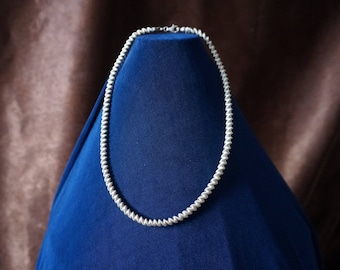 Sterling Silver, Elegant Chain Necklace 43cm long and 25gram