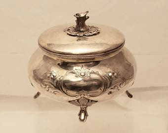 Silver Polish Sugar / Esrog Box