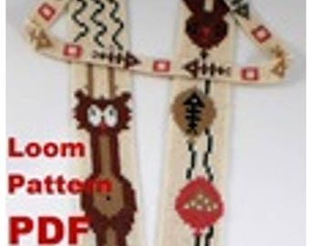 Beading Loom Pattern Necklace «Mousekin» Instant Download