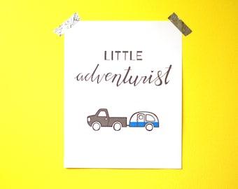 "Nursery Wall Art - Little Adventurist - 8""x10"" - PDF instant download"