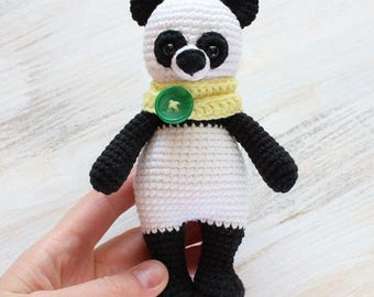 Crochet Stuffed Panda Bear Toy