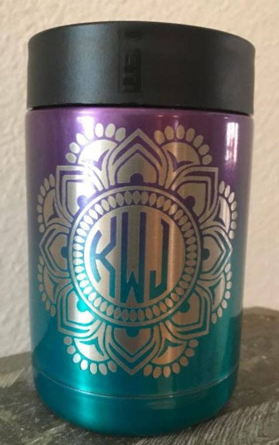 RTIC or YETI ombre colster with personalized mandala