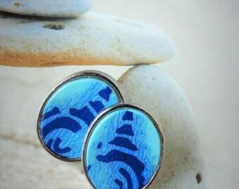 Japan blue earrings