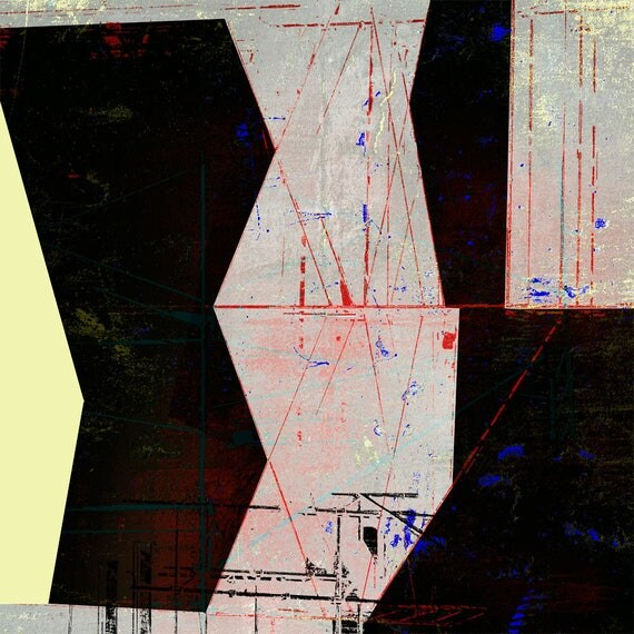 On the High Beam,Holiday Print Sale,Affordable Art, Abstract Art,modern collage,elegant art, design art,interior design,architectural print