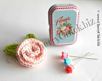 Sewing Pins - Pins in Tins - Decorative Sewing Pins - Quilting Pins - Floral Tins with Pins - Quilt Retreat Gift - Gift for Quilters