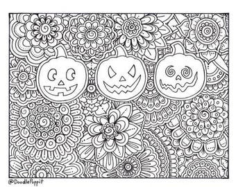 halloween therapy coloring pages - photo#5