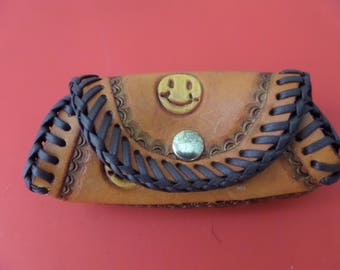 Leather Coin Purse / Hand Made / Hand Carved / Hand Tooled / Canadian Made / All Occasions / Also  Customizing