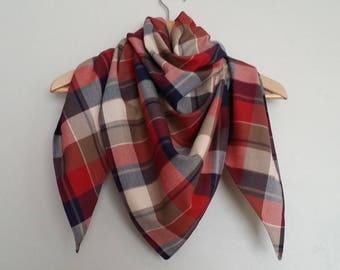 Trendy scarf, scarf / unisex - Scottish - M size