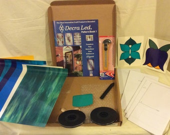 DECRA LED Self Adhesive Stained Glass Kit With Lead Rolls Simulated Overlay
