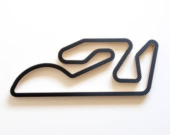 Comunitat Valenciana MotoGP Wooden Racing Track Wall Art Sculpture