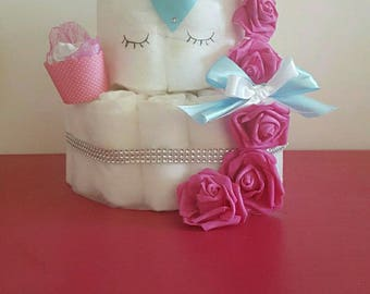 "Great for girl diaper cake ""Princess Unicorn"""