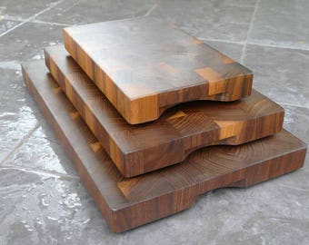 End Grain Chopping Board Classic Style - / Large / Wooden / Gift / Handmade  / Present / Cutting Board / Solid Wood / Food