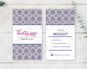 Thirty One Business Card - Geo Pop (template)