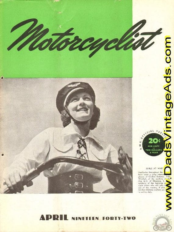 1942 April Motorcyclist Motorcycle Magazine Back-Issue #4204mc