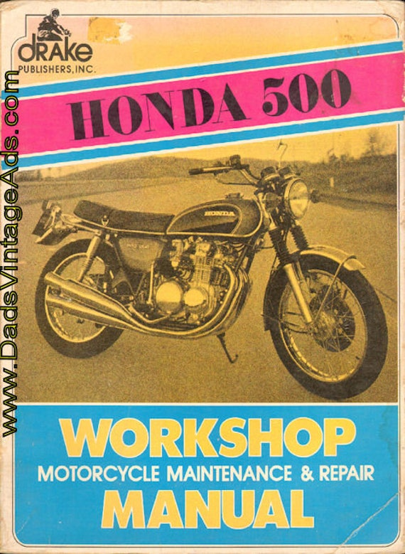 1972 Honda 500 Drake Workshop Motorcycle Maintenance & Repair Manual #mm117