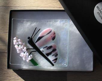 Soap Dish / Spoon Rest - Butterfly on Flower